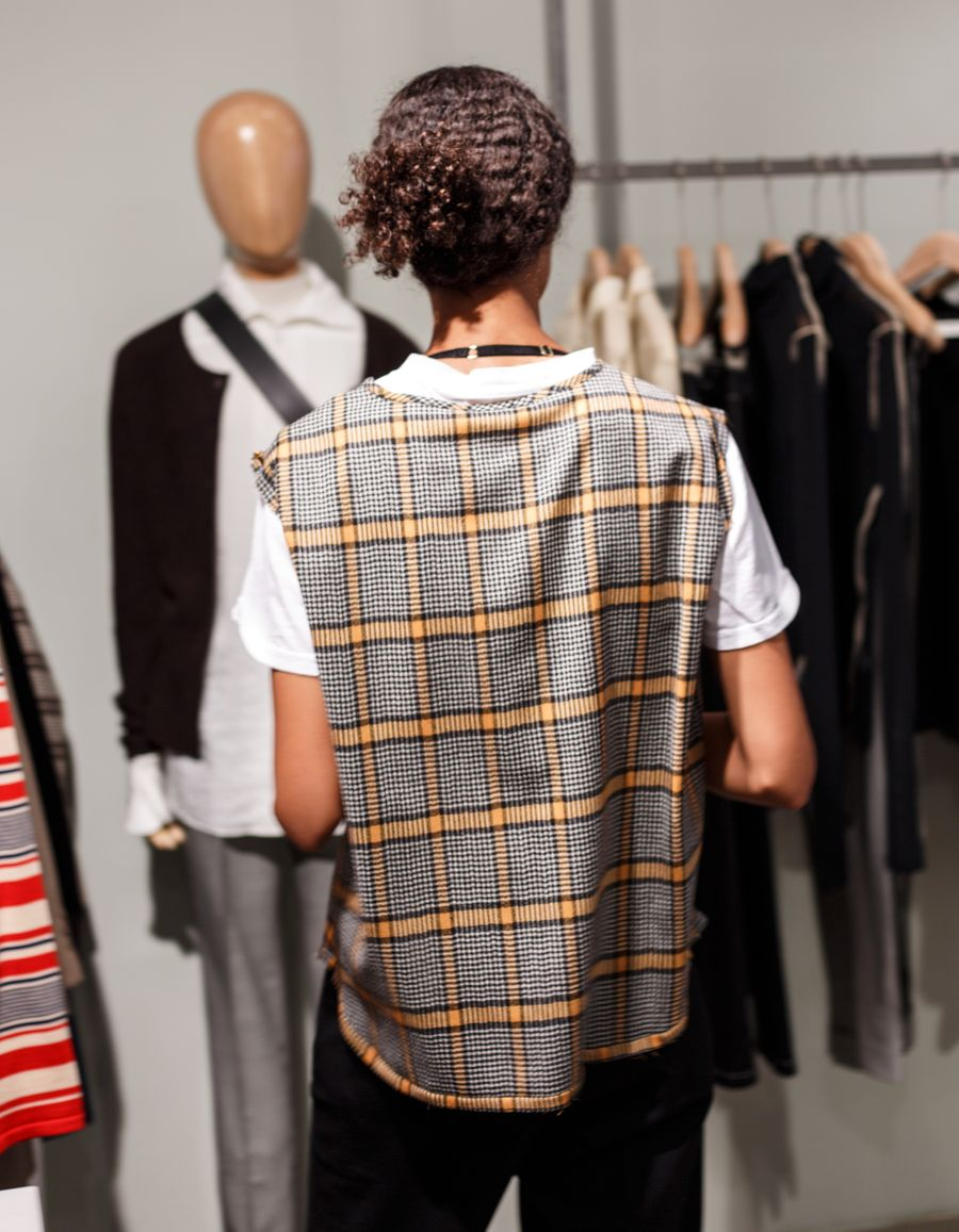 Ariele Plaid Wool Vest