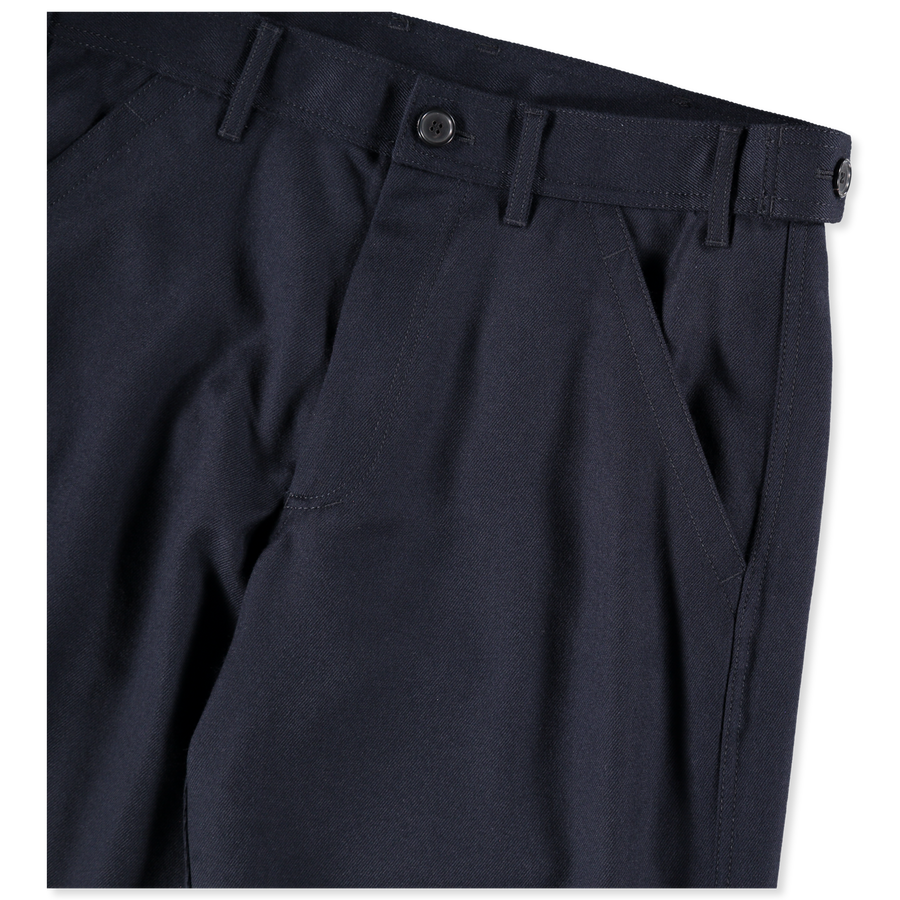 Straight Leg Worker Wool Pant