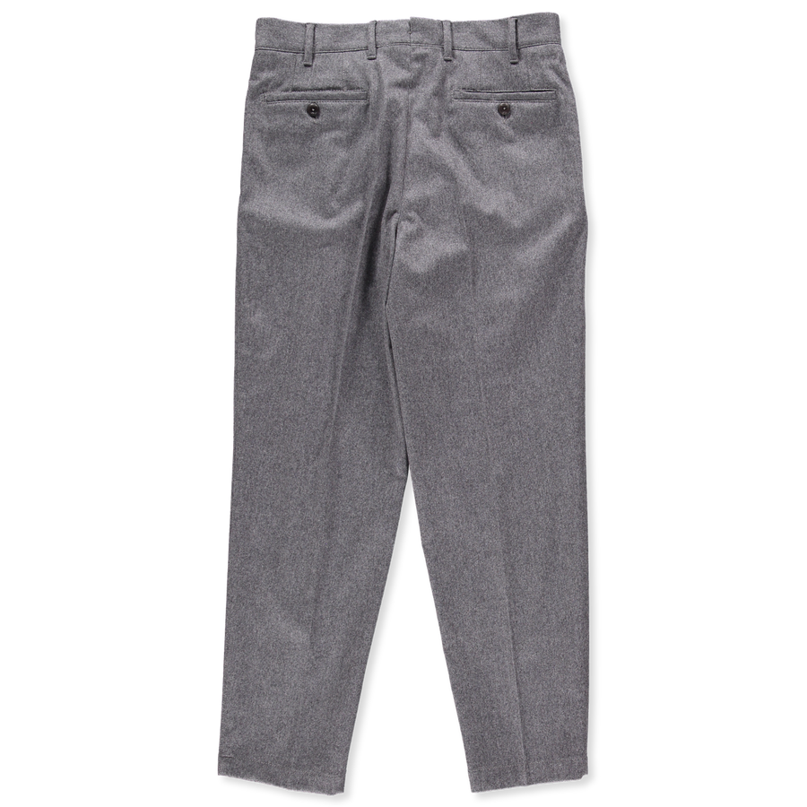 Pleated Wool Flannel Pant