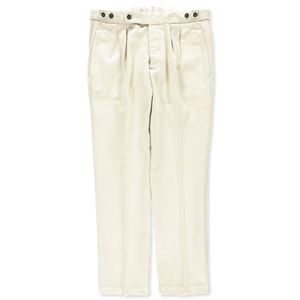 Brera Pleated Cotton Trouser
