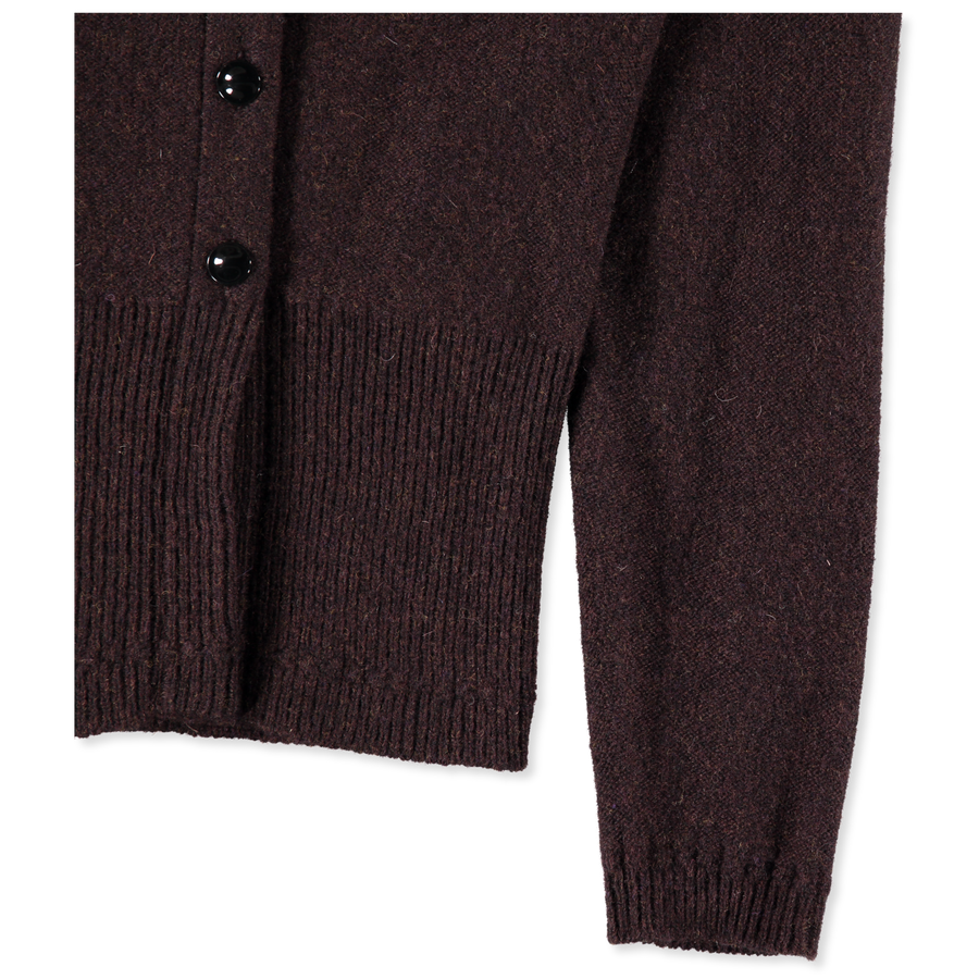 Fitted Cardigan Curved Sleeve