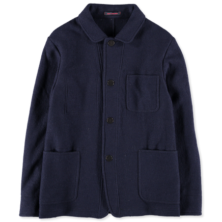 Snap Button Wool Jacket