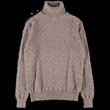 Melange Wool/Alpaca Rollneck