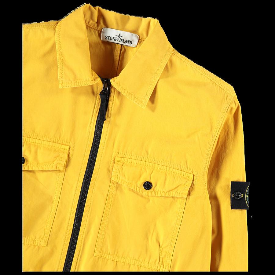 6915107WN V0134 Garment Dyed Zip Overshirt