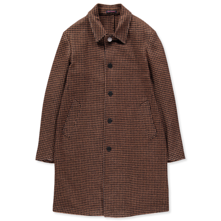 Snap Button Houndtooth Coat