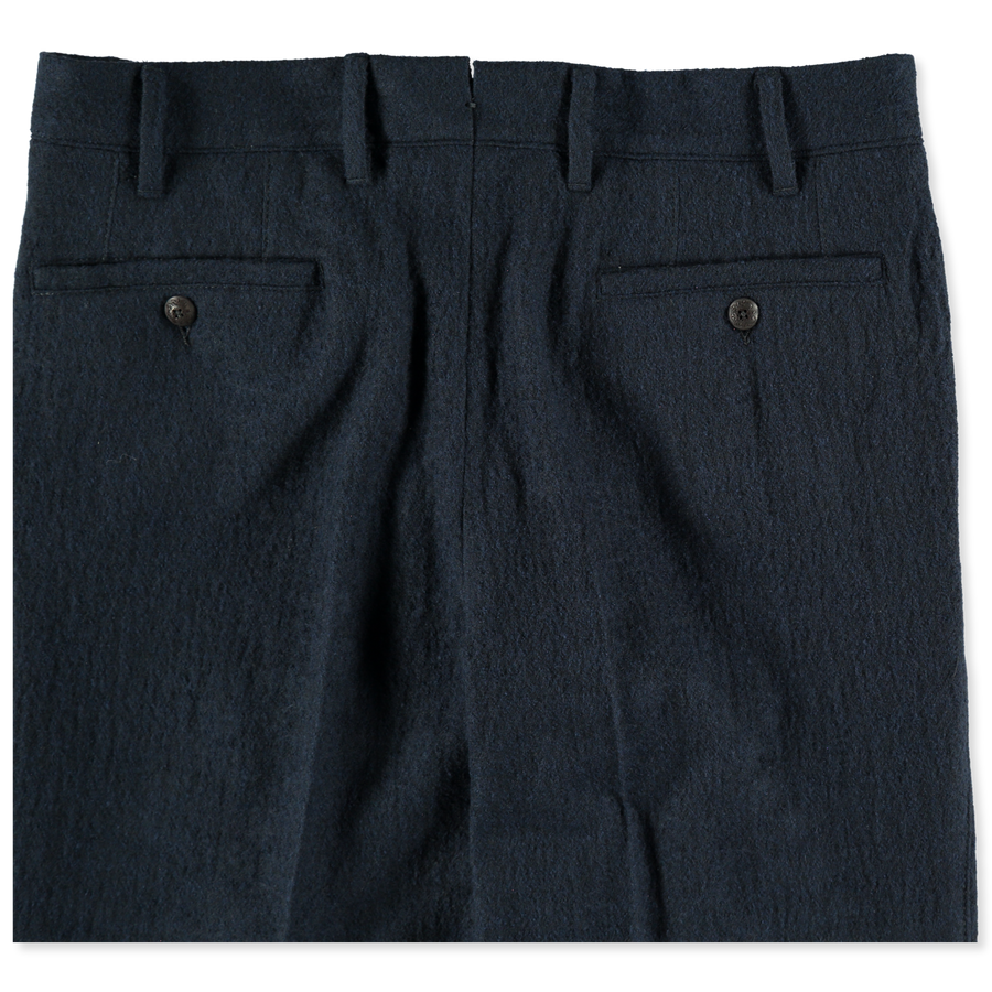 Pleated Boiled Wool Pant