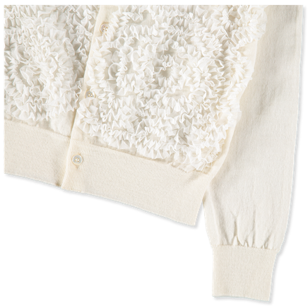 Embroidered Tull Cardigan