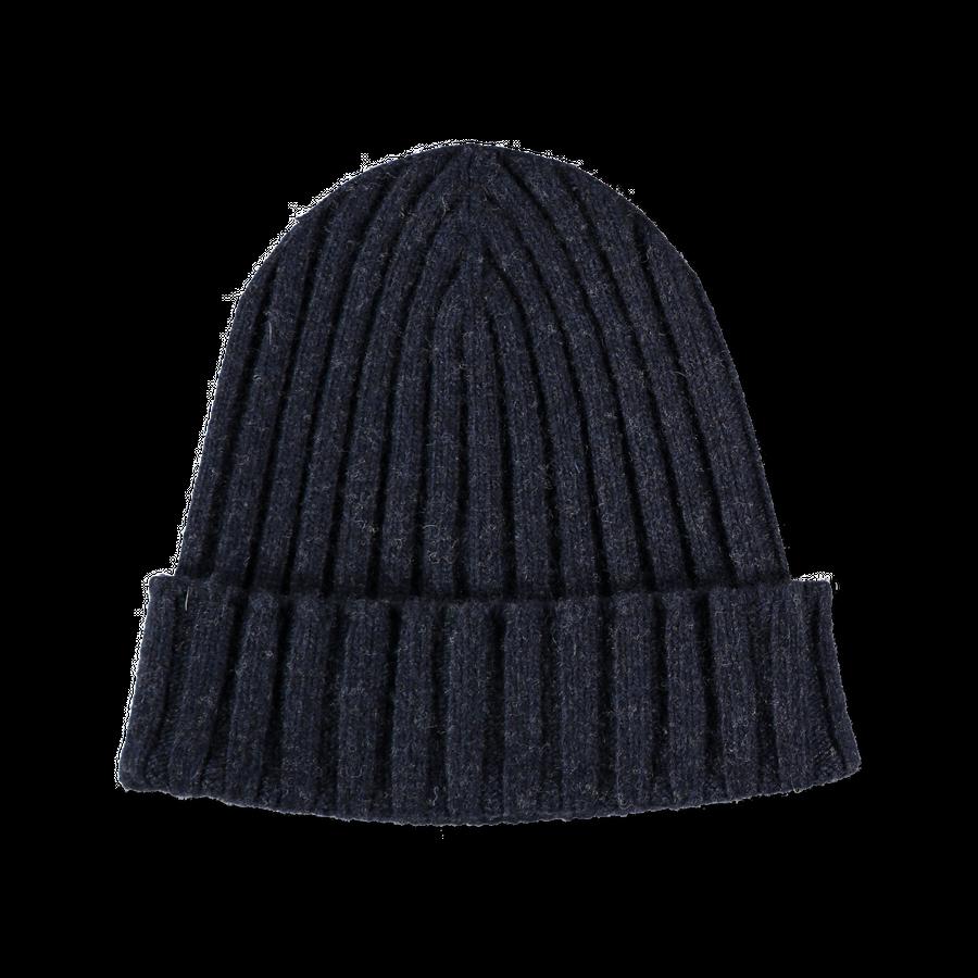 Knitted Wool/Cash Rib Beanie