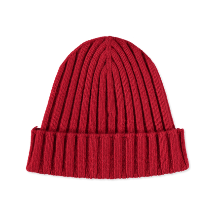 Knitted Wool/Cash Rib Beanie