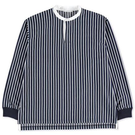 Stripe Band Collar Sweater