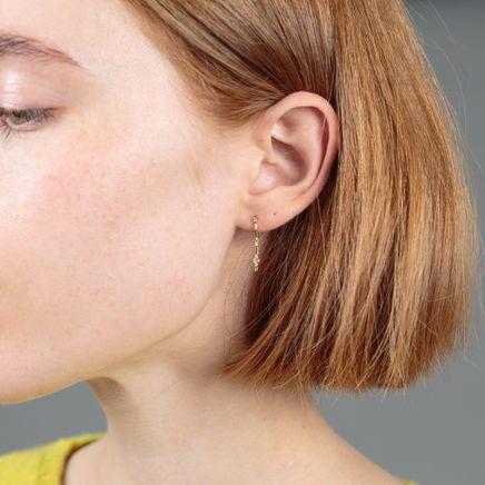 Sword Baguette YG Earring