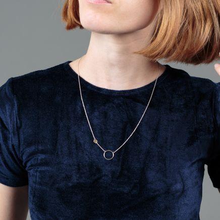 Dot 18k Gold & Silver Necklace