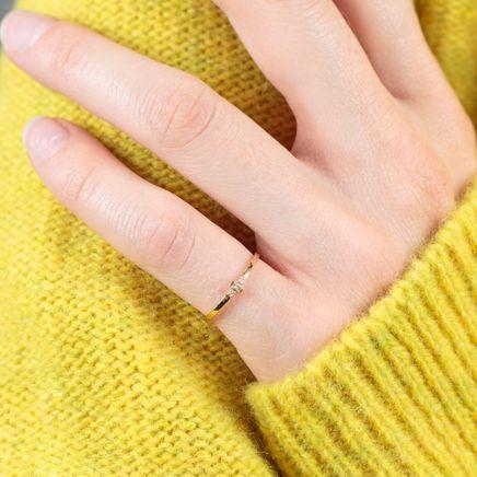 Sword 18 k Gold Pinky Ring