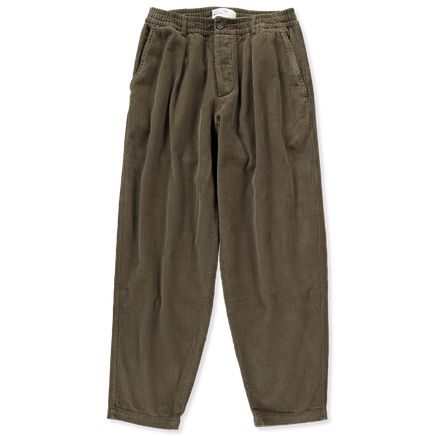 Pleated Corduroy Track Pant