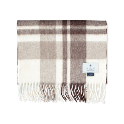 Checked Lambswool/Angora Scarf