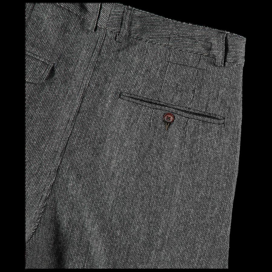 Marl Double Pleat Suit Pant