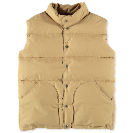 Woven Cotton/Nylon Down Vest