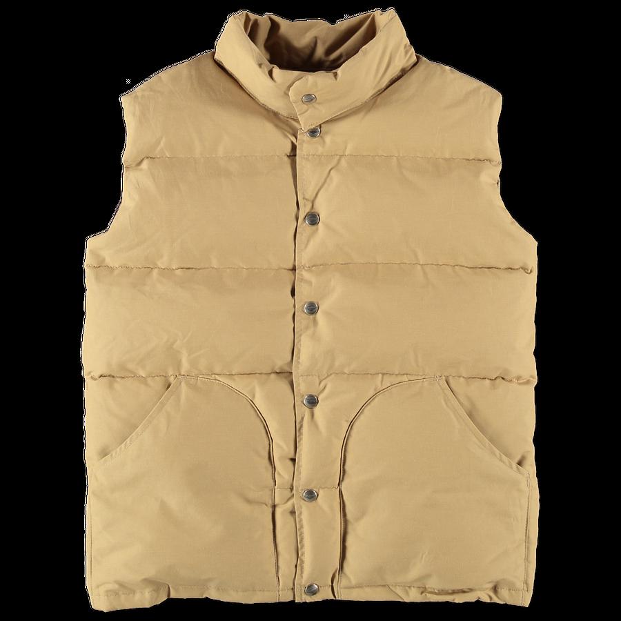 Woven Cotton/Nylon Down Vest