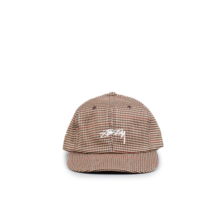 Small Check Strapback Cap
