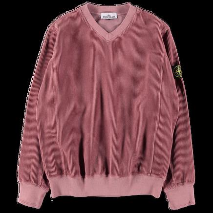 691565839 V0086 Corduroy V-Neck Sweatshirt