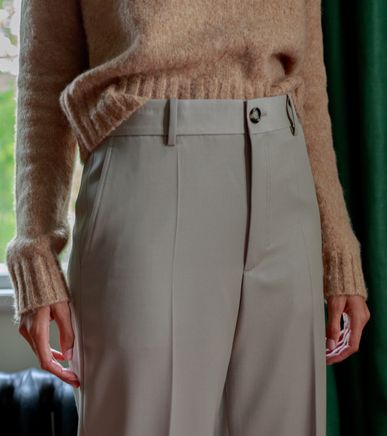 Wool Garbardine Trouser