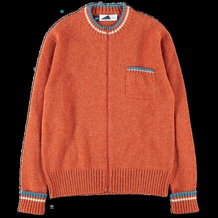 Shetland Wool Zip Cardigan