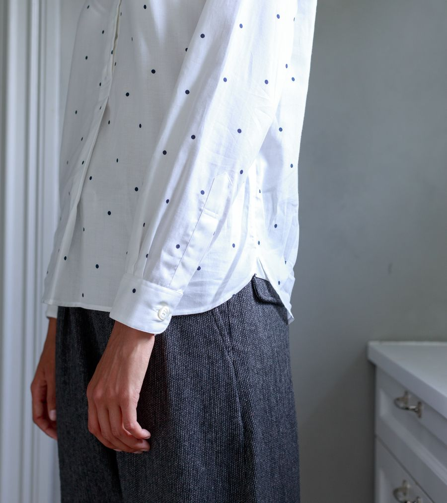 Low Collar Pull On Shirt