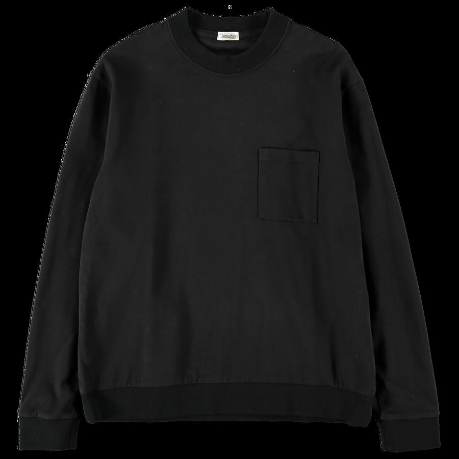 Crew Neck Pocket Sweatshirt