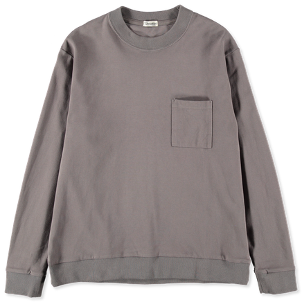 Crew Neck Pocket Sweatshirt