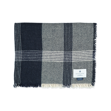 Checked Cash/Wool Scarf
