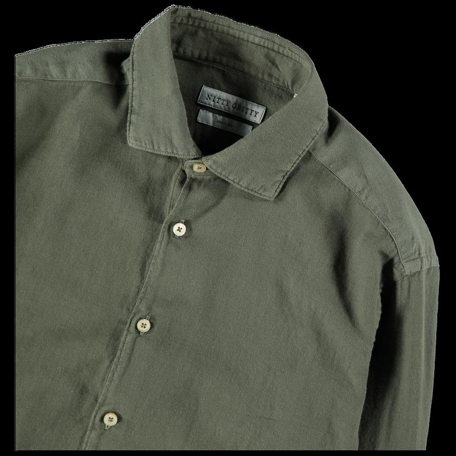 Washed Soft Twill Dress Shirt