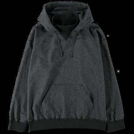 Nylon Wool Tweed Hoodie