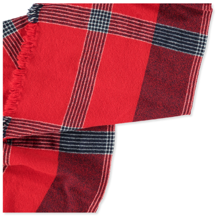 Checked Wool/Cash Scarf