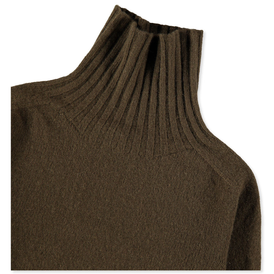 Wide Roll Neck Cashmere