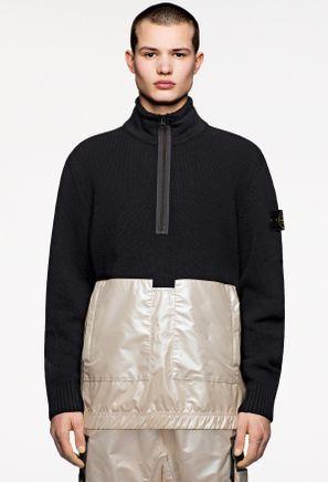 6915599MA V0029 Iridescent Coating Wool Knit
