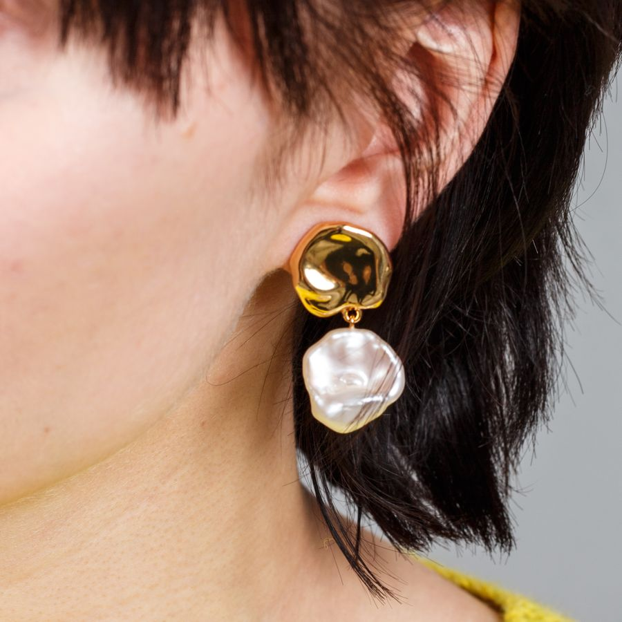 Coin Reflection Earrings