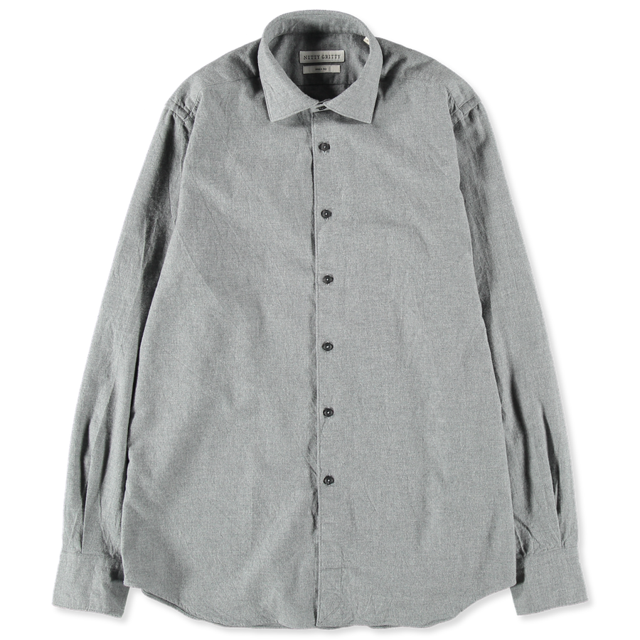Washed Flannel Dress Shirt