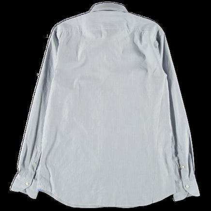 Washed Microstripe Dress Shirt