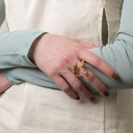 Claw Corals Ring Goldplated
