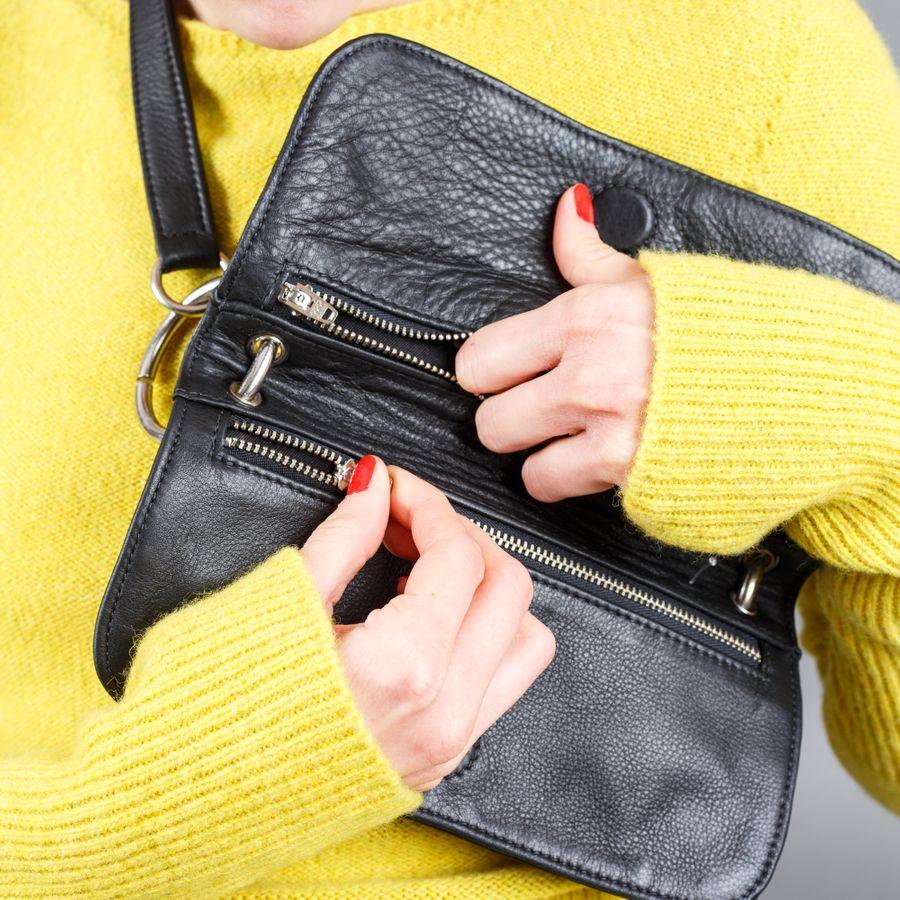 Mindy Bag Black Leather