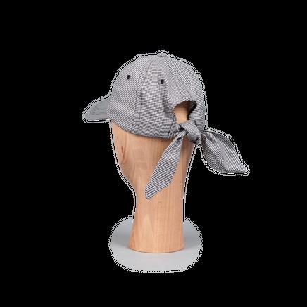 Tie Ballcap Wool Houndstooth
