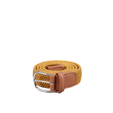 Chrome B Stretch Belt Mustard