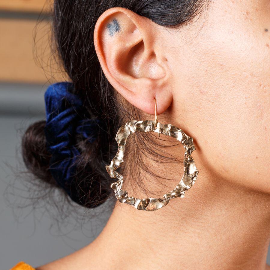 Wabi Sabi Bronze Earring