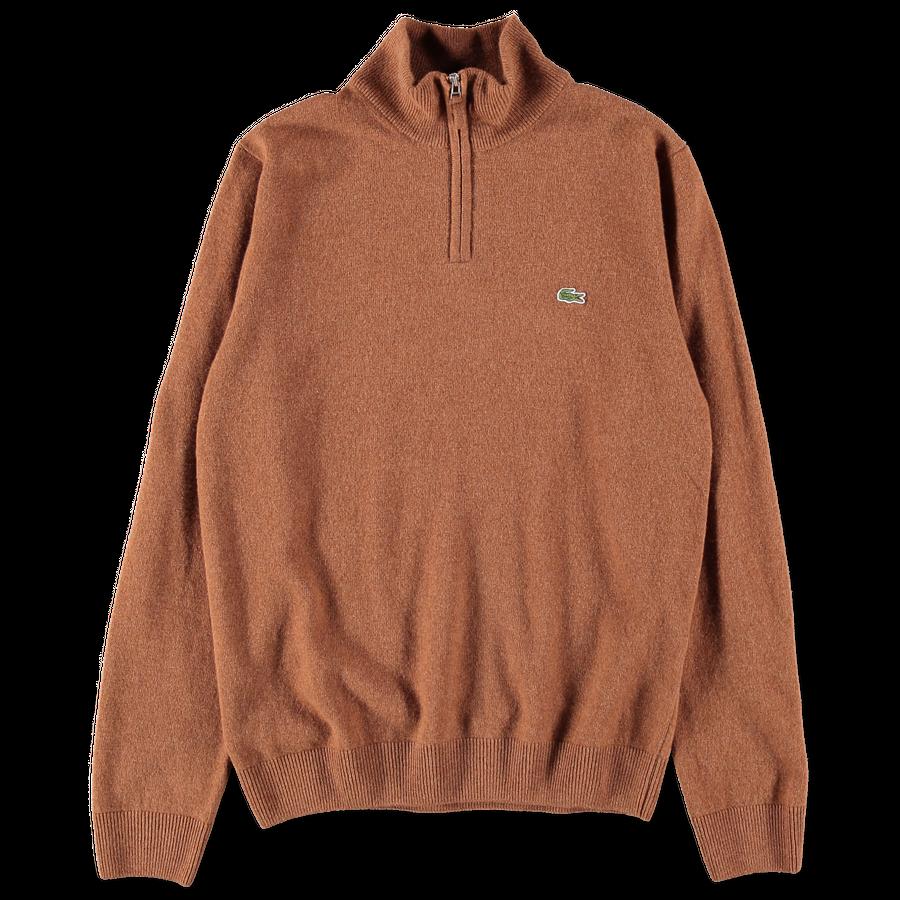 Half Zip High Collar Sweater