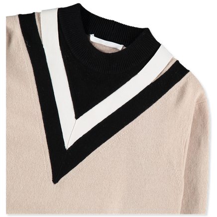 V Colourblock Pullover