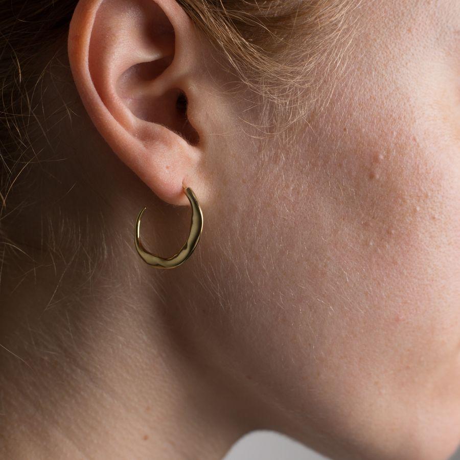 Molded Organic Hoop Earring M