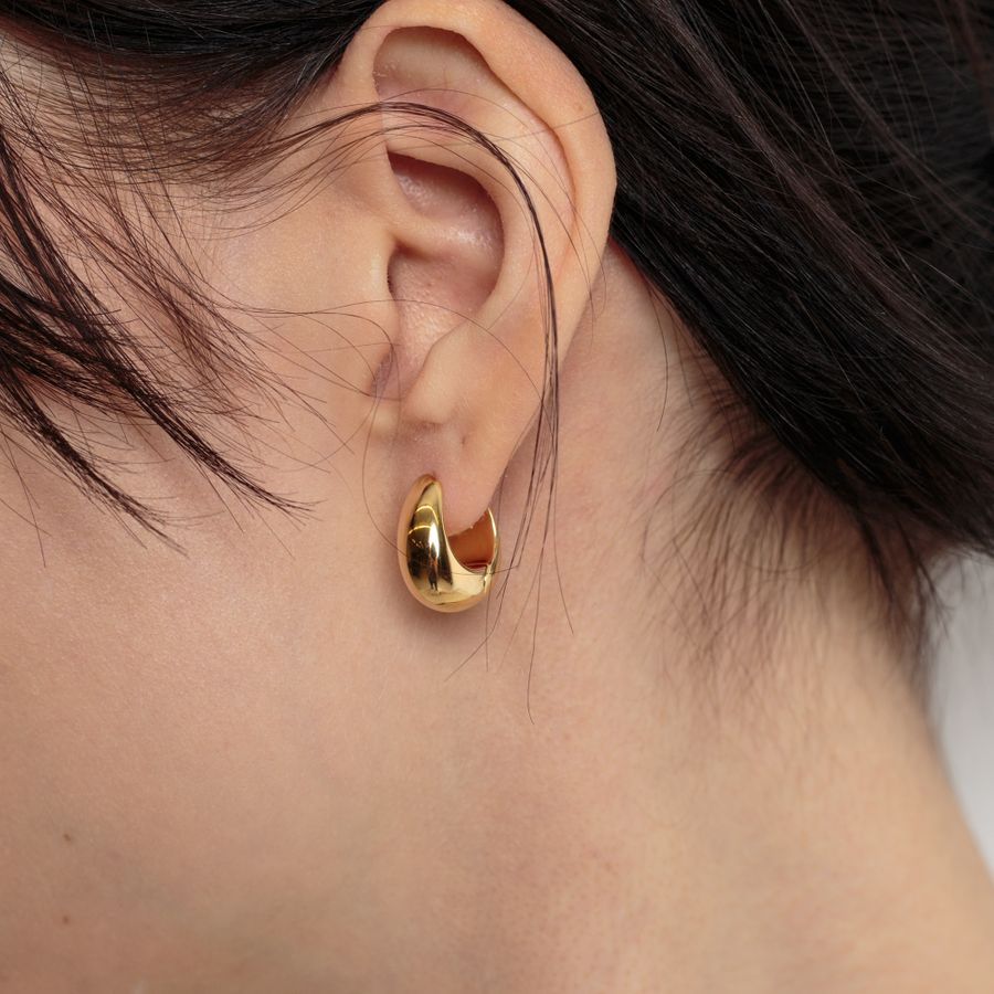 Ice Hoops Small Goldplated