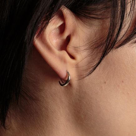 Mini Ear Loops Sterling Silver