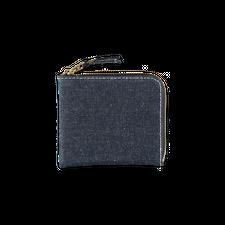 Comme des Garçons Wallet Half Zip Denim Wallet - Indigo