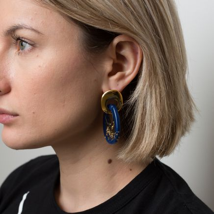 Finn Earrings Gold Midnight